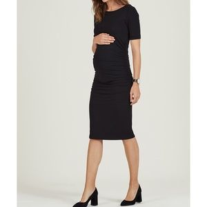 Isabella Oliver Dresses - Isabella Oliver Ruched T Shirt Maternity Dress